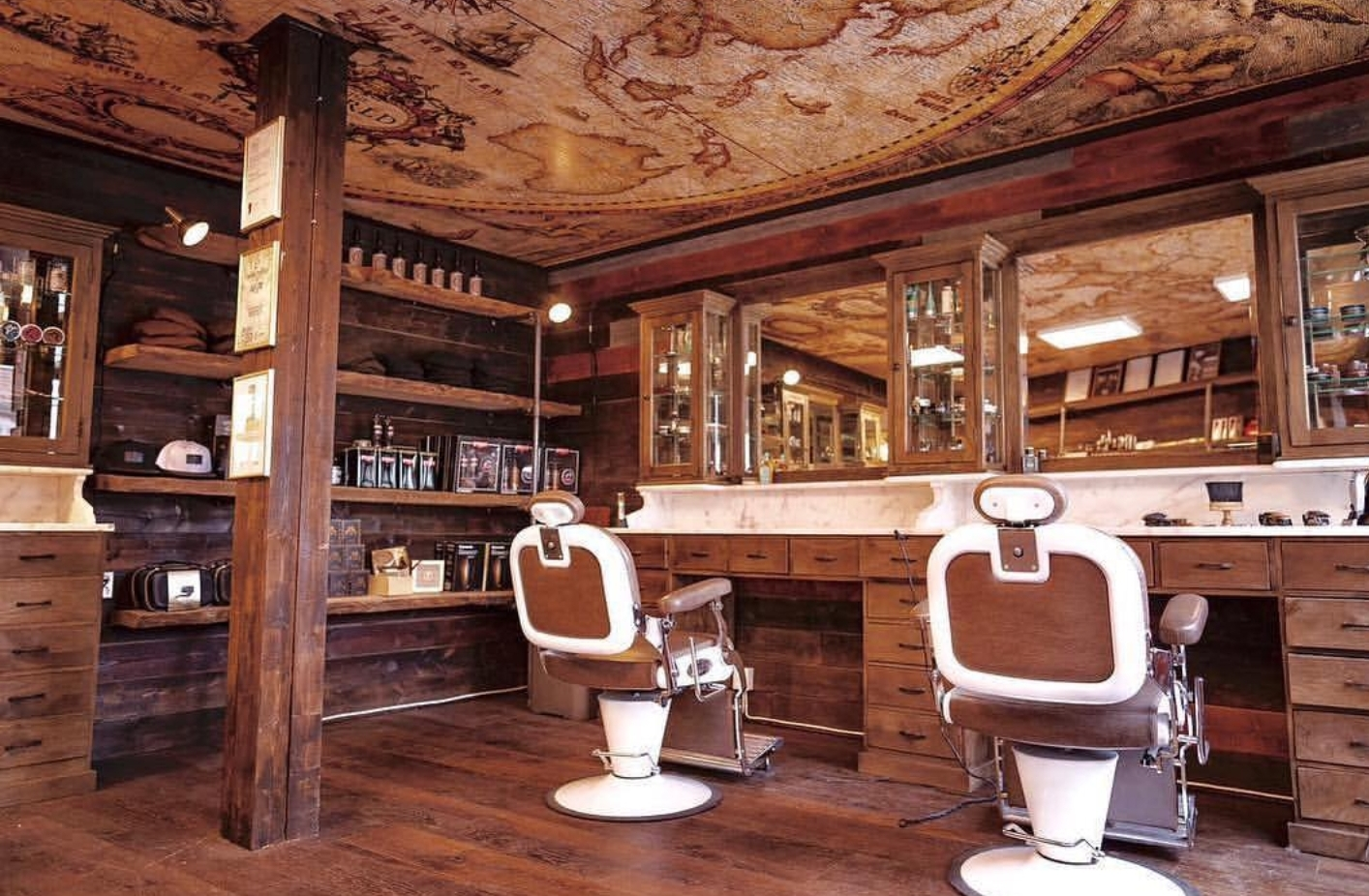 Barber furniture projects   Stunning Vintage barberunits   Solid wood with massive marble tops   Worldwide delivery   Handcrafted with pride   Best for barbers   Barbershop interior
