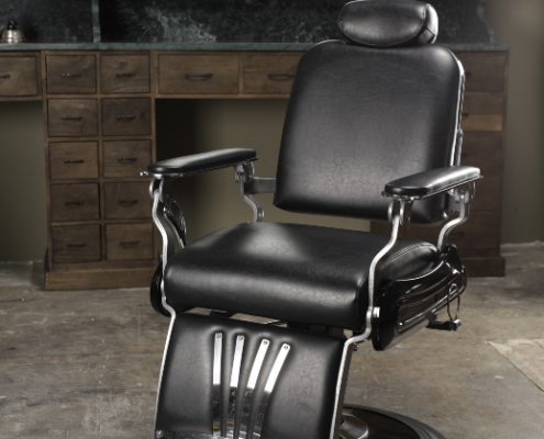 Barber chair | Black chrome | Barber furniture | Barber tools | Interior