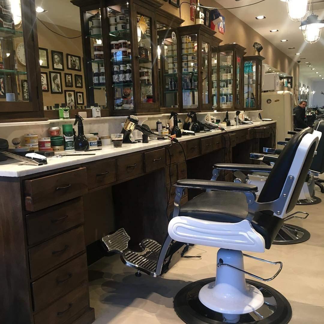 Vintage barber furniture   Barber chairs   Heavy duty barber chair   Barber workstation   Barberstation   Solid wood   restyling barbershop